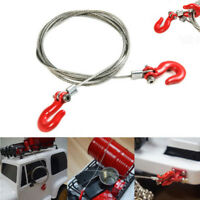Racing 1/10 RC Rock Crawler Accessories Steel Wire Rope w/Hook red