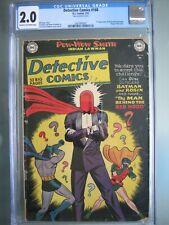 Detective Comics #168 CGC 2.0 DC 1951 Rare 1st app Red Hood - Origin Joker