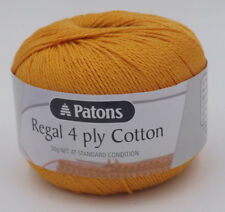 Patons Regal Cotton 4 Ply #4442 Tangerine 50g