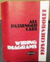 1969 Camaro Wiring Diagram Manual Ebay