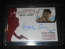 James Bond 007 Autograph Trading Card Belle Avery as Linda The Living Daylights