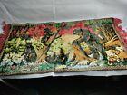 "Vintage Carpet Tapestry 40""x20"" Bear Family Bath Time Rug Wall Hanging Fringe"