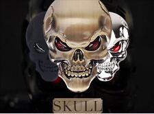 3D Metall Skull Totenkopf Logo Sticker Emblem Badge Aufkleber PKW KFZ Auto Chrom