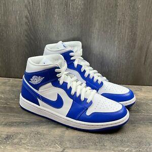 Air Jordan 1 Mid Sneakers Women Size 10 Men's Size 8.5 Kentucky Blue BQ6472-104