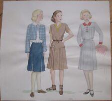 Original Art/Hand-Painted Fashion/Clothing Painting: 1931 - 8