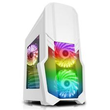 CiT G Force Mid Tower Gaming Case - White USB 3.0