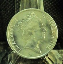 CIRCULATED 1998 10 CENT AUSTRALIAN COIN (62919)1.....FREE DOMESTIC SHIPPING!!!!!