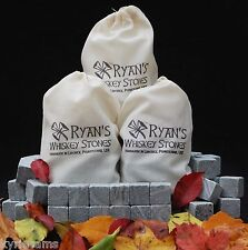 3 sets of -12- Ryan's Whiskey Stones Rocks Ice Cubes Soapstone Wine Bev Chillers