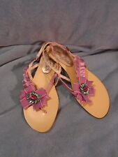 Women's Poetic Licence Bejangled Fabric Sandals With Faux Jewels Size 8 1/2 M