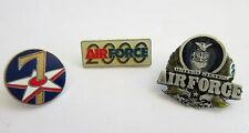 Military Lapel Hat Pins US Air Force Push Back Enamel set of 3