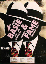 COUNT BASIE rare concert poster from 1968 (Kieser) rolled