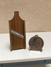 Vintage Artisan Wooden Kitchen Mandoline dollhouse miniature 1:12