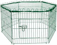 Metall Kaninchengehege Grün Tür Netz, Hasengehege Freilaufgehege Kleintiergehege