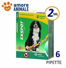 Exspot 6 pipette 2 ml per Cani da 41 kg a 55 kg Antiparassitario per cane cani