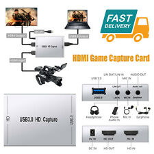 1080p HDMI Capture Card Usb3.0 Live Video Capture Game for Ps3 Ps4 Xbox Wii U