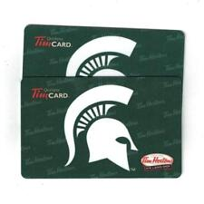 ( 2 ) Michigan State Spartans Tim HORTONS Gift Cards