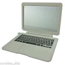 """White Laptop Notebook MacBook Mirror 1:6 Scale for Barbie Monster High 12"""" Dolls"""
