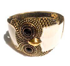 Owl Bird Animal Brass Chunky Cuff Bracelet Bangle Fashion Accessorises Gift