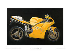 Ducati 748 SP (1994) -  Limited Edition Collectors Print - Poster by Steve Dunn