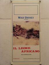 IL LEONE AFRICANO documentario Disney regia James Algar locandina orig. 1955