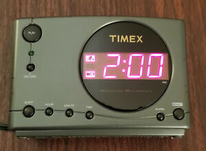 Timex Message Recorder Electric Alarm Clock with Nature Sounds Model T138B