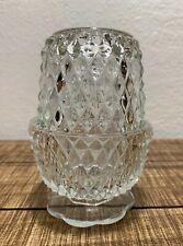 Fairy Angel Tea Light Lamp Votive INDIANA GLASS - Diamond Point Pattern Vintage!