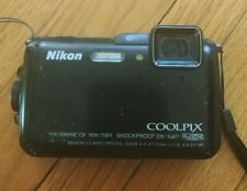 Nikon Coolpix Aw120 16.1Mp Waterproof Shockproof Digital Camera Black + 8Gb Sd
