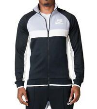 Nike Sportswear Archive PolyKnit Track Jacket Black Gray White Retro 941847 2XL