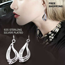 3 Hoop Dangle Hook Earring Jewelry New Women Fashion 925 Sterling Silver Plated
