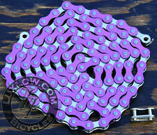 "Purple & Silver 2Tone Fixie Bicycle Chain 1/2x1/8"" 112L Schwinn Cruiser Bike BMX"