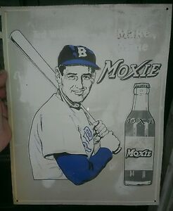 Ted Williams Moxie Sign 11x14