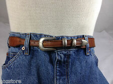 Cerrillos Saddlery Belt  Douglas Magnus Sterling Silver Buckle Set Mens Size 30