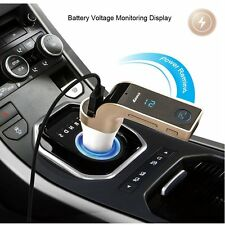 G7 Bluetooth FM Transmitter Handsfree Call Radio Adapter MP3 Player Car Charger