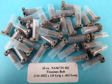 "3/16"" #10-32 x .463"" Titanium (33) Hex Head Bolts Aircraft Aerospace NAS673V-H2"