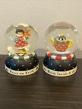 At Home Mary Engelbreit Peace on Earth and Be Warm Mini Snowglobes
