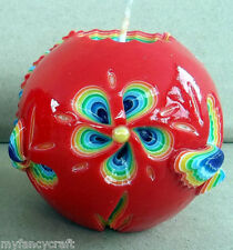 Handmade Candle Paraffin Wax Light Decor Home Interior Unique Multicolor Carved