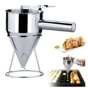 Stainless Steel Baking Funnel Waffle Batter Dispenser Pancake Maker Cooking