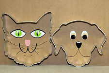 Kitten Cat and Puppy Dog Face Cookie Cutter Pair - Shipped Free in USA