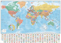Choose any Giant Wall Poster 140cm x 100cm World Map ,Star Wars ,Pink Floyd  etc