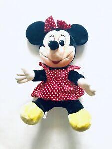 "Vintage Disneyland Walt Disney World Minnie Mouse Plush Stuffed 21"" Plastic Eyes"