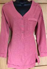 NEW NEXT 8 ladies rose pink textured jersey long sleeve longline tunic shirt top