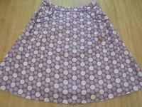 BODEN must have fizzy spot linen skirt size 14R  NEW