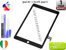 Apple iPad Air 1 Touch Screen Digitizer Glass black white + Home Button