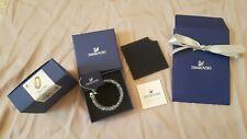 BNIB +Bag GENUINE SWAROVSKI Crystal Grey Silver Stardust Bracelet Bangle 5237762