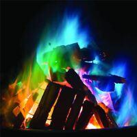 10 x Mystical Fire Magic Coloured Flames Bonfire Sachets Fireplace Pit Patio