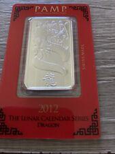 2012 Pano Australia Year Of The Dragon 1oz Silver Bar