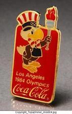 Olympic Pins 1984 Los Angeles Coke Sponsor Mascot Torch