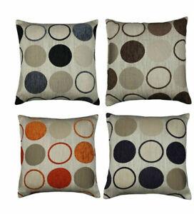 Circle Spots Cushion Covers Chenille Retro Designs Orlando Cushion Cover / inner