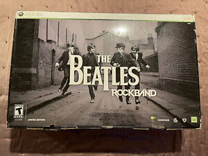Xbox 360 Beatles Rock Band Limited Edition Bundle Full Set Game  New