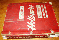 Hollander Parts Interchange Manual 47 48 49 50 51 52 53 54 55 1956 1957 24th Ed